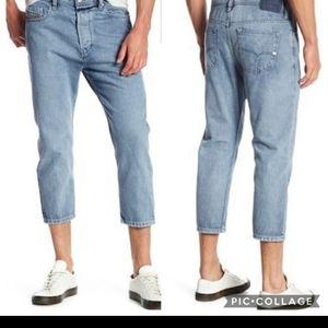 Diesel Rhial Slim Carrot Cropped Jeans